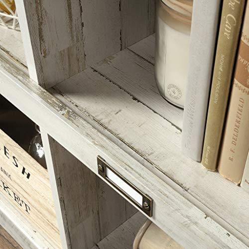 Sauder Barrister Lane Bookcase L 5315 X W 1213 X H 4752 White Plank Finish 0 3
