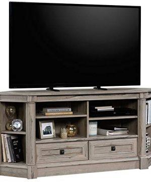 Sauder Palladia Contemporary Wood 60 Corner TV Stand In Split Oak 0 300x360