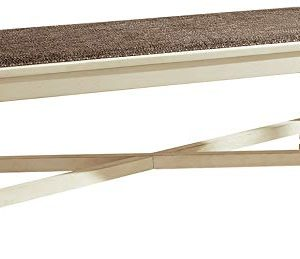 Signature Design By Ashley Bolanburg Upholstered Dining Room Farmhouse Bench Antique White 0 300x259