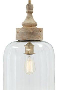 Signature Design By Ashley L000148 Faiz Pendant Light Bell Shaped Clear Glass Shade 0 232x360