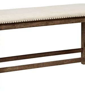 Signature Design By Ashley Morriville Counter Height Upholstered Dining Room Bench Brown 0 300x323