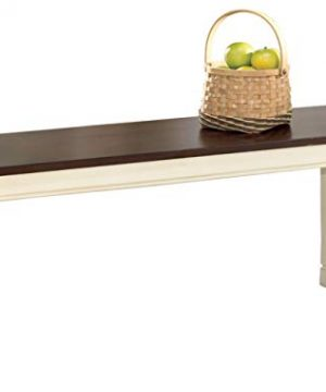 Signature Design By Ashley Whitesburg Dining Room Bench BrownCottage White 0 300x360