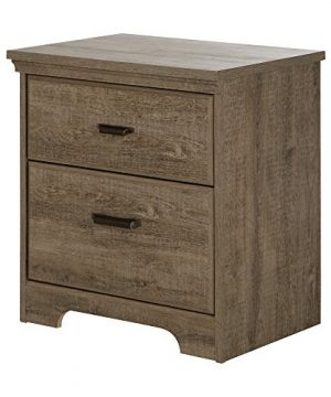 South Shore Versa 2 Drawer Nightstand Weathered Oak Traditional 0 0 300x360