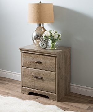 South Shore Versa 2 Drawer Nightstand Weathered Oak Traditional 0 300x360