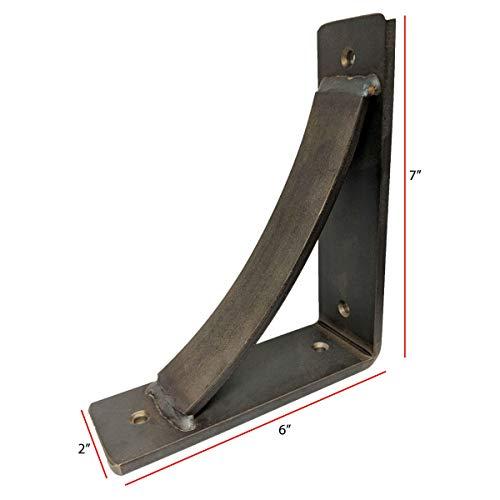 Steel Heavy Duty Shelf Brackets 2 Pack Steel Brackets Heavy Duty Decorative Shelf Brackets Medium DIY Rustic Shelving Brackets For Modern Rustic Decor 7x6x2 Natural Steel 0 0