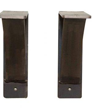 Steel Heavy Duty Shelf Brackets 2 Pack Steel Brackets Heavy Duty Decorative Shelf Brackets Medium DIY Rustic Shelving Brackets For Modern Rustic Decor 7x6x2 Natural Steel 0 2 300x360