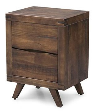 Steve Silver Pasco Distressed Brown Cocoa Solid Wood 2 Drawer Nightstand 0 300x360