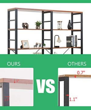 Tangkula 80 Inches Double 6 Shelf Bookcase Industrial Style Double 6 Tier Bookshelf Large Open Bookcases WMetal Frame Ample Storage Display Bookshelf For Home Office 60 L X 135 W X 80 H 0 5 300x360