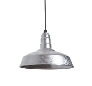 The Carson Modern Farmhouse Pendant Light Steel Barn Light With Black Cord For Ceiling Heavy Duty Steel Light Made In America Strong Industrial Lighting Galvanized 0 300x282