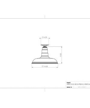 The Malibu Modern Farmhouse Pendant Light Steel Barn Light With Flush Mount For Ceiling Heavy Duty Steel Light Made In America Black 0 0 300x360