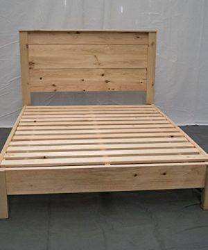 Unfinished Farmhouse Platform Bed W Headboard Full Traditional Platform Frame Wood Platform Reclaimed Bed Modern Urban Cottage Platform Bed 0 0 300x360