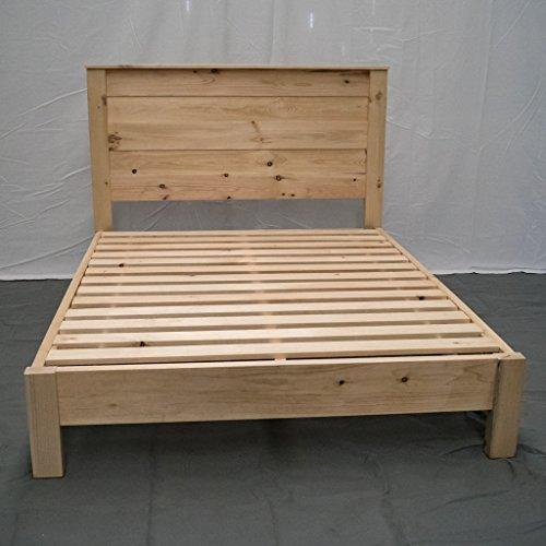 Unfinished Farmhouse Platform Bed W Headboard Full Traditional Platform Frame Wood Platform Reclaimed Bed Modern Urban Cottage Platform Bed 0 0