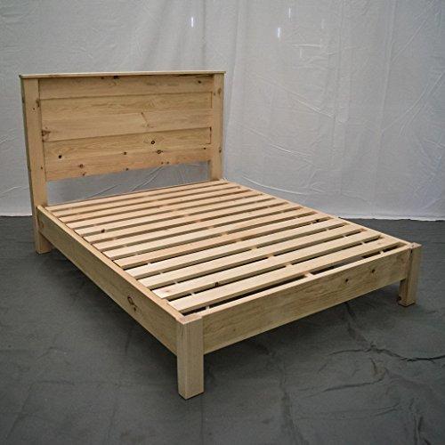 Unfinished Farmhouse Platform Bed W Headboard Full Traditional Platform Frame Wood Platform Reclaimed Bed Modern Urban Cottage Platform Bed 0