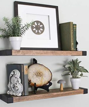 WG Willow Grace Designs Floating Shelves Farmhouse Floating Shelves Rustic Shelves Wall Easily Mounted Perfect Wood Floating Shelves For Bathroom Bedroom And Kitchen Walnut 24 Set Of 2 0 300x360