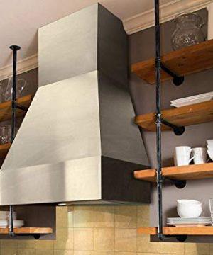 WGX Design For You Industrial Retro Wall Mount Iron Pipe Shelf Hung Bracket DIY Storage Shelving Bookshelf 2 Pcs 4Tier Hardware Only 0 1 300x360