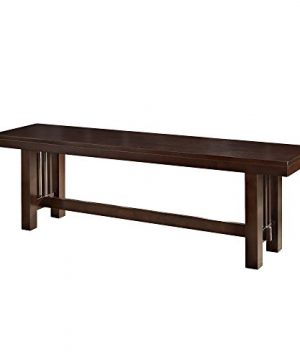 Walker Edison Furniture Solid Wood Cappuccino Dining Bench 0 300x360