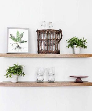 Willow Grace Large Floating Shelves 36 Inch Floating Shelves Long Barnwood Shelves Perfect Long Floating Shelf For Bedroom Bathroom And Kitchen Rustic Grey 36 Set Of 2 0 300x360