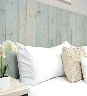 Winter Sky Headboard King Size Bluish Stain Hanger Style Handcrafted Mounts On Wall Easy Installation 0 2 300x332