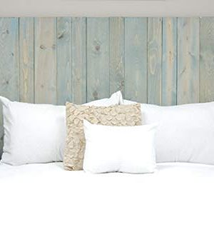 Winter Sky Headboard King Size Bluish Stain Hanger Style Handcrafted Mounts On Wall Easy Installation 0 3 300x332