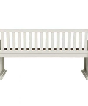 XPRESS WORLD Steve Silver Joanna Two Tone Ivory And Dark Oak Farmhouse Dining Bench With Back 0 3 300x360