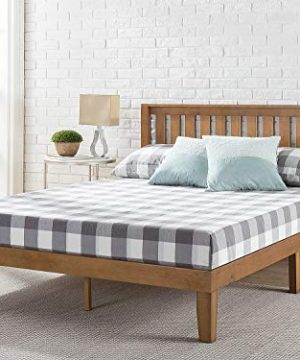 ZINUS Alexia Wood Platform Bed Frame With Headboard Solid Wood Foundation With Wood Slat Support No Box Spring Needed Easy Assembly Rustic Pine King 0 300x360