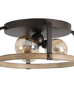 ALAISLYC 3 Light Flush Mount Ceiling Light Fixture Farmhouse 149 Industrial Rustic LightingOil Rubbed Bronze JF2103 C3 0 300x360