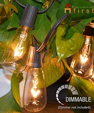 Afirst Outdoor String Lights 20FT With 22 Edison Bulbs Vintage Bistro Lights Waterproof ST40 String Lights For Patio Backyard Party Wedding Brown Cord 0 0 300x360