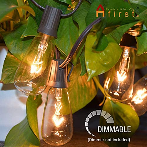 Afirst Outdoor String Lights 20FT With 22 Edison Bulbs Vintage Bistro Lights Waterproof ST40 String Lights For Patio Backyard Party Wedding Brown Cord 0 0