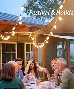 Afirst Outdoor String Lights 20FT With 22 Edison Bulbs Vintage Bistro Lights Waterproof ST40 String Lights For Patio Backyard Party Wedding Brown Cord 0 2 300x360