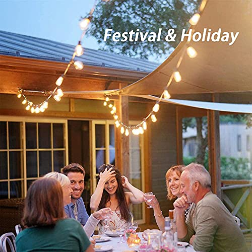 Afirst Outdoor String Lights 20FT With 22 Edison Bulbs Vintage Bistro Lights Waterproof ST40 String Lights For Patio Backyard Party Wedding Brown Cord 0 2