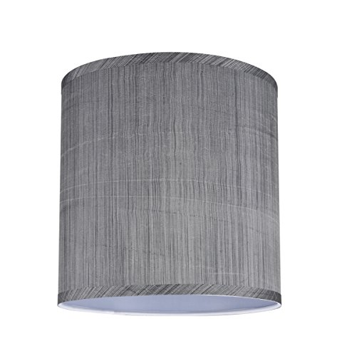 Aspen Creative 31016 Transitional Hardback Drum Cylinder Shape Spider Construction Lamp Shade In Grey Black 10 Wide 10 X 10 X 10 0 0