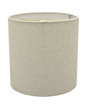 Aspen Creative 31226 Light Grey 8 Wide 8 X 8 X 8 Transitional Drum Cylinder Shaped Spider Construction Lamp Shade 0 0 300x360
