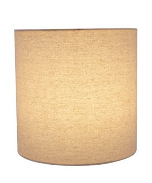 Aspen Creative 31226 Light Grey 8 Wide 8 X 8 X 8 Transitional Drum Cylinder Shaped Spider Construction Lamp Shade 0 1 300x360