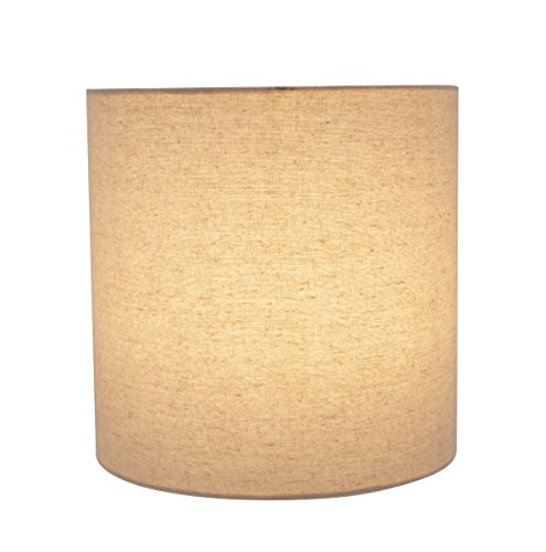 Aspen Creative 31226 Light Grey 8 Wide 8 X 8 X 8 Transitional Drum Cylinder Shaped Spider Construction Lamp Shade 0 1