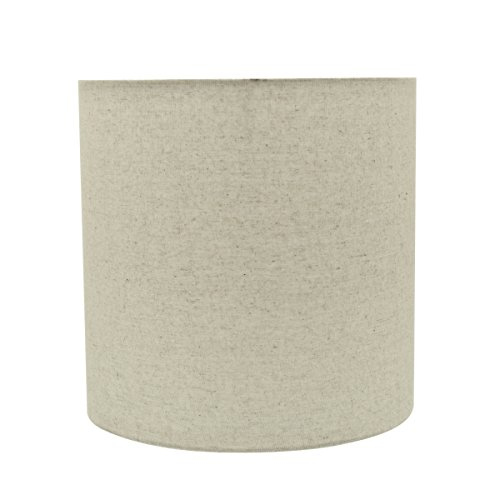 Aspen Creative 31226 Light Grey 8 Wide 8 X 8 X 8 Transitional Drum Cylinder Shaped Spider Construction Lamp Shade 0