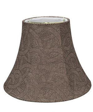 Aspen Creative Brown 30132 Transitional Bell Shape Spider Construction Lamp Shade 14 Wide 7 X 14 X 11 0 0 300x360