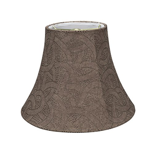 Aspen Creative Brown 30132 Transitional Bell Shape Spider Construction Lamp Shade 14 Wide 7 X 14 X 11 0 0