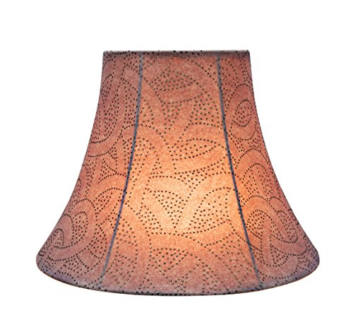 Aspen Creative Brown 30132 Transitional Bell Shape Spider Construction Lamp Shade 14 Wide 7 X 14 X 11 0 1