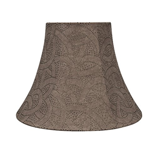 Aspen Creative Brown 30132 Transitional Bell Shape Spider Construction Lamp Shade 14 Wide 7 X 14 X 11 0