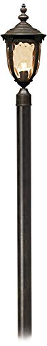 Bellagio European Outdoor Post Light With Pole Veranda Bronze 103 Champagne Glass For Exterior House Porch Patio Outside Deck Garage Yard Garden Driveway Home Lawn Walkway John Timberland 0 0