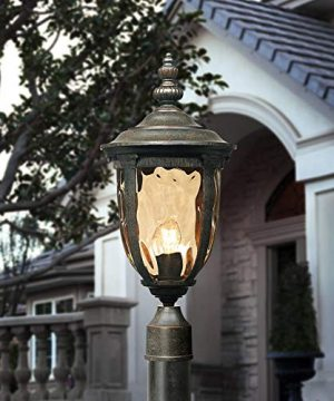 Bellagio European Outdoor Post Light With Pole Veranda Bronze 103 Champagne Glass For Exterior House Porch Patio Outside Deck Garage Yard Garden Driveway Home Lawn Walkway John Timberland 0 300x360