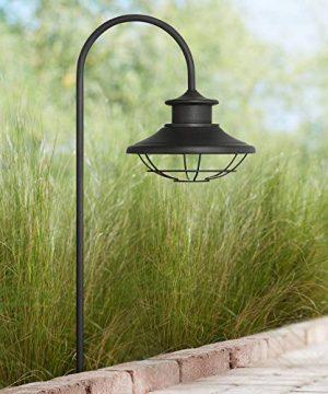 Braden 23 12 High Textured Black Outdoor LED Path Light John Timberland 0 300x360