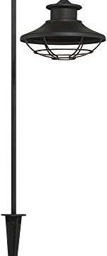 Braden Textured Black 8 Piece LED Path And Spot Light Set John Timberland 0 1 151x360
