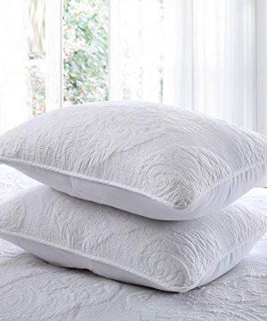 Brandream White Quilt Set Queen Size Cotton Farmhouse Paisley Comforter Set Vintage Quilt SetWhite Paisley 0 0 300x360