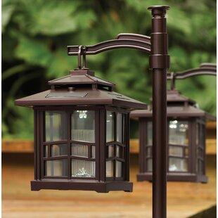 Bronze+2+-Light+28.75''+H+Solar+Powered+Integrated+LED+Lamp+Post+(Full)+(Set+of+2)
