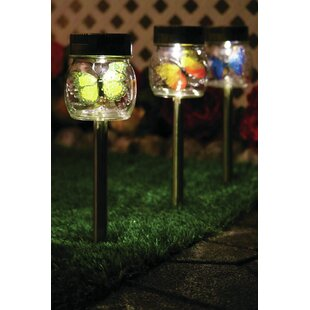 Butterfly+Jar+Solar+Powered+LED+Pathway+Light+Pack+(Set+of+3)