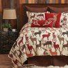 CF Home Colton Tan Lodge Rustic Cabin Deer Cotton 2 Piece Twin Machine Washable Reversible Quilt Set Twin 2 Piece Set Brown 0 100x100