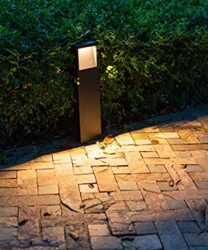 CNBRIGHTER LED Landscape Path Lights Beveled Emitting10 Watts 2 Ft 60cm HeightWaterproof Aluminum Outdoor Gardern Accent Pathway And Spread Area LightingWarm White 3000K 0 300x360