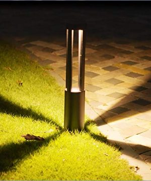 CNBRIGHTER LED Landscape Path Lights10W CREE Chip2 Ft 60cm HeightWaterproof Aluminum Cylindrical Outdoor Gardern Accent Pathway And Spread Area LightingWarm White 0 300x360