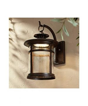 Callaway Rustic Outdoor Wall Light LED Bronze Hanging Lantern Sconce Fixture For House Deck Porch Patio Franklin Iron Works 0 300x360